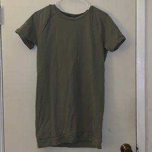 Olive Green T-Shirt Dress (:
